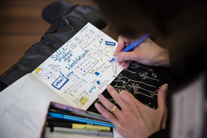 Graphic Recording/Sketchnotes Be yourSELFIE in München