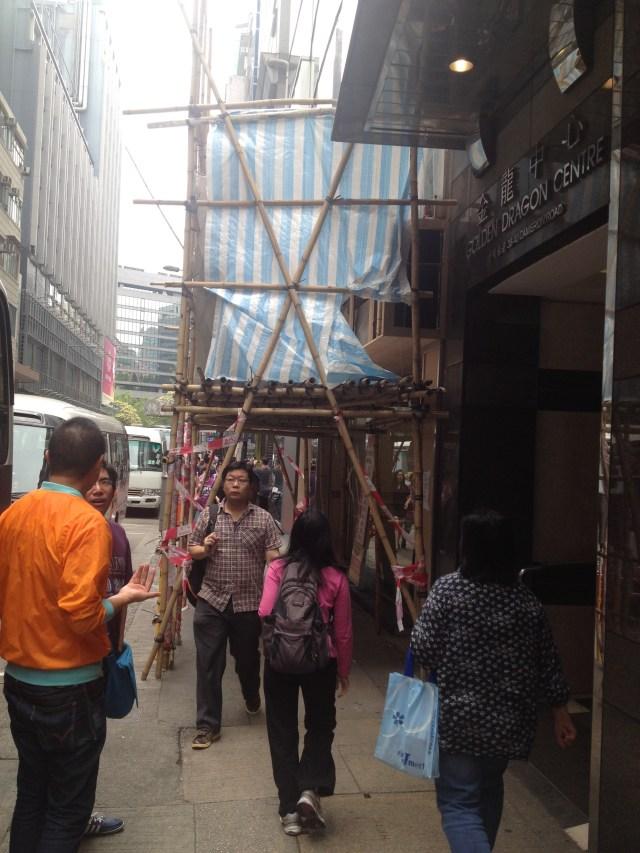 Andaime de bambu