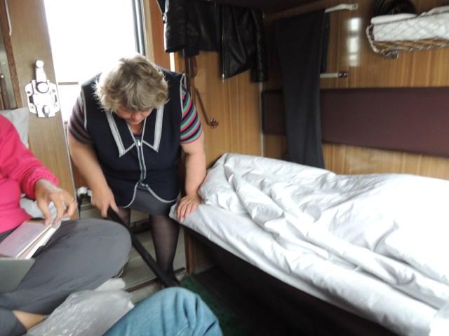 2 beliches por cabine e limpeza durante a viagem