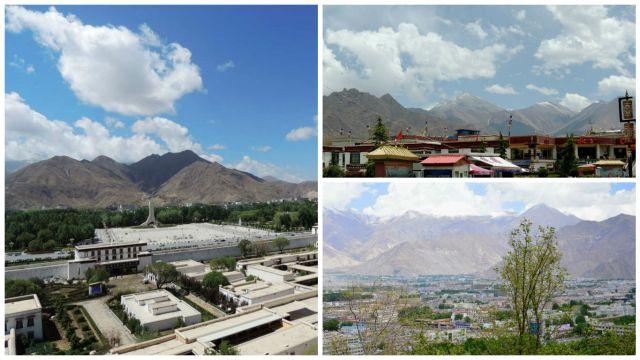 Montanhas ao redor de Lhasa