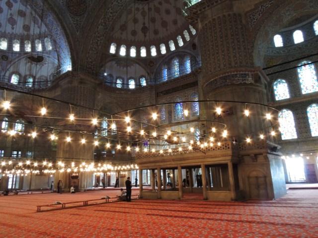 Mesquita Azul - por dentro