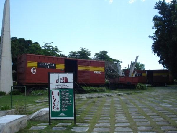 """Museu em homenagem ao episódio do """"trem blindado""""."""