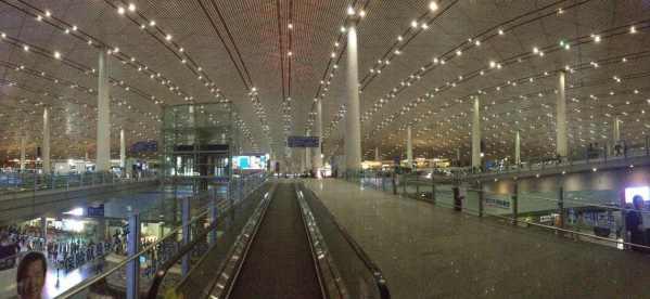 Aeroporto de Pequim: um desbunde.