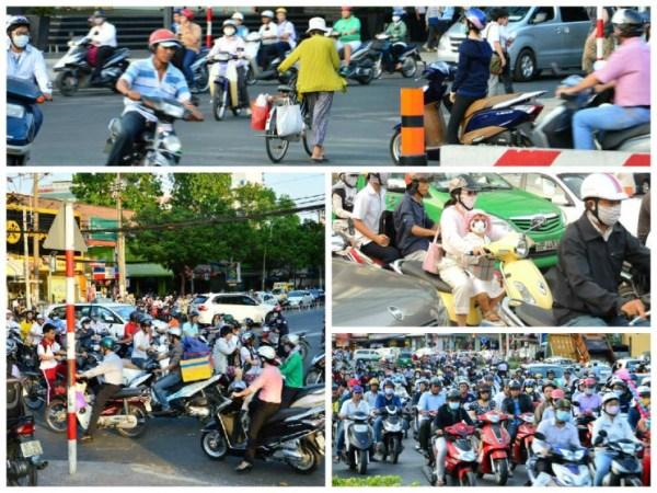 Trânsito em Ho Chi Minh