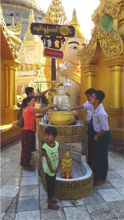 Templo em Myanmar