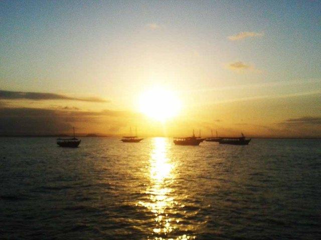 Vista do Píer da Baía de Camamu