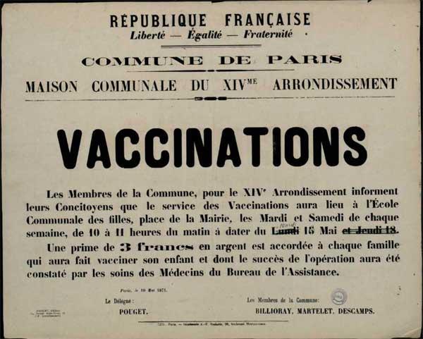 , Όταν η Παρισινή Κομμούνα εμβολίαζε μαζικά τον εξεγερμένο πληθυσμό της!, INDEPENDENTNEWS