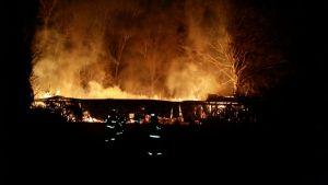 incendio casa patronal villasante en Lanco