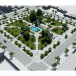 Obras de mejoramiento de la Plaza de Armas de Río Bueno registran un 58 por ciento de avance