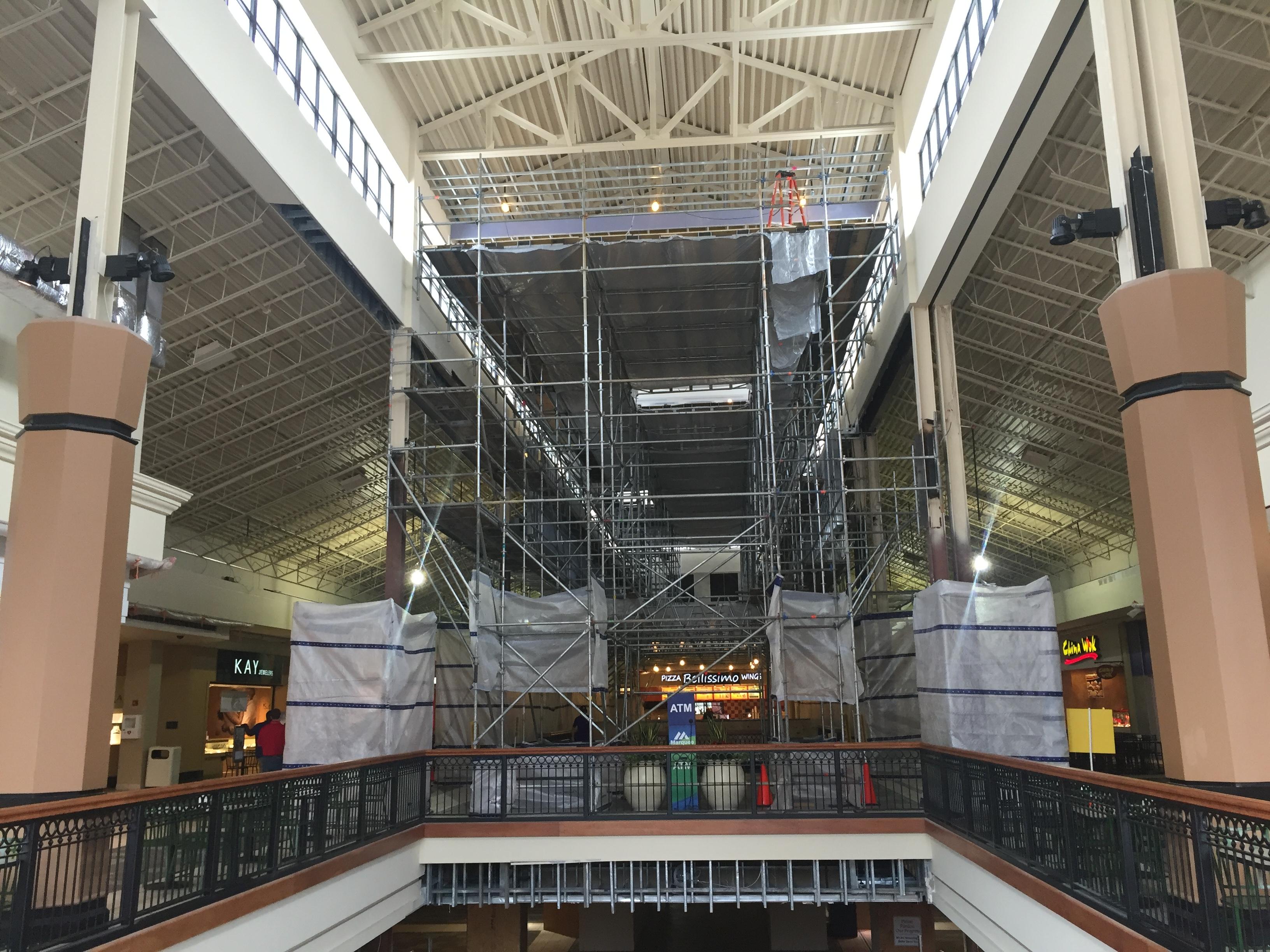 Brookwood Mall Renovation scaffold 7