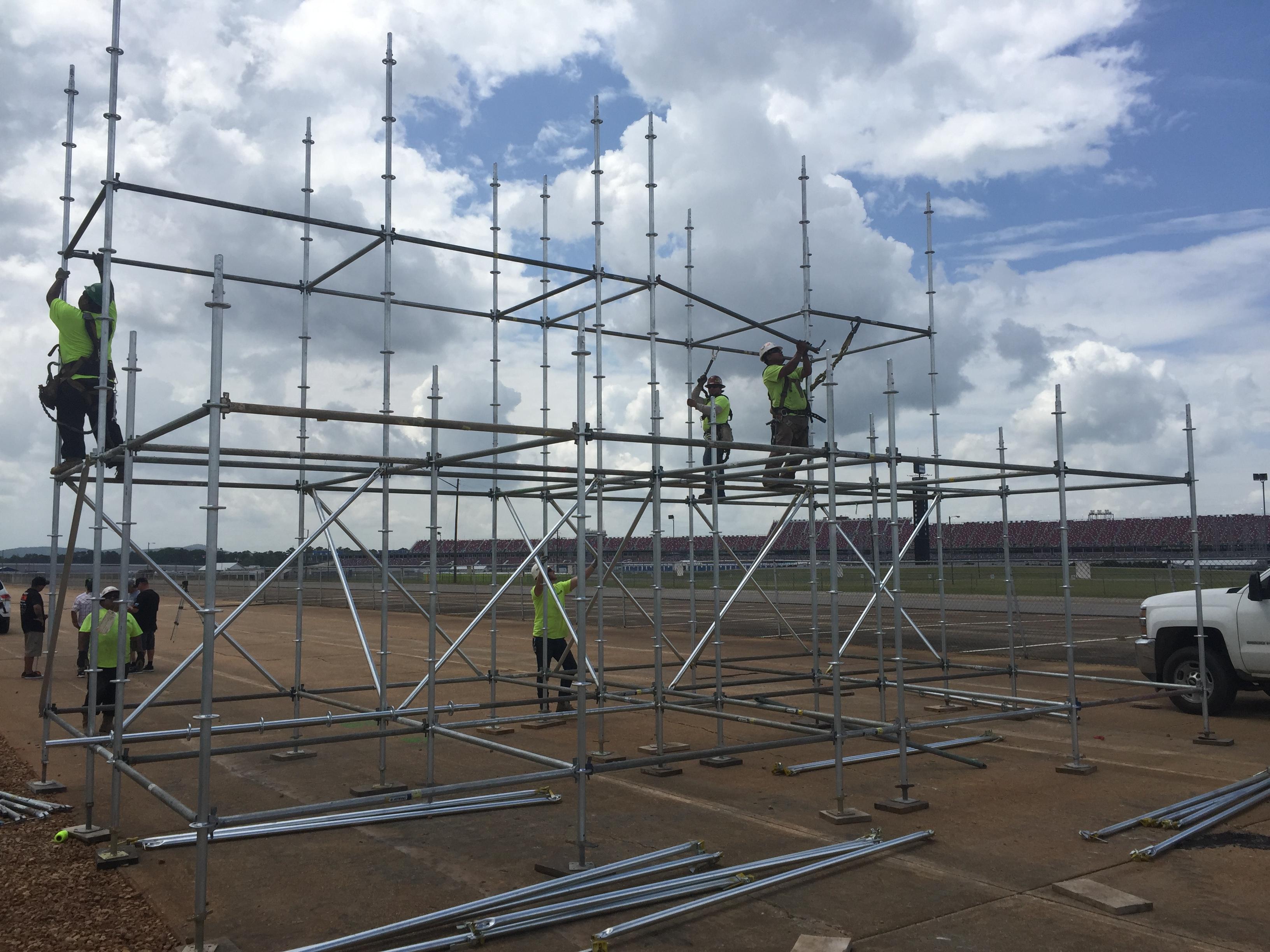 Talledega Superspeedway scaffold motorcycle ramp 8