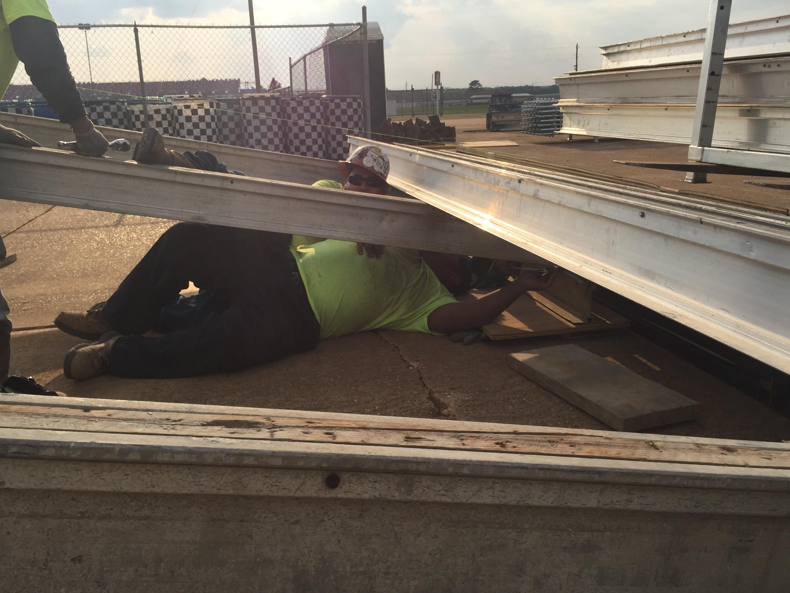 Talledega Superspeedway scaffold motorcycle ramp 7