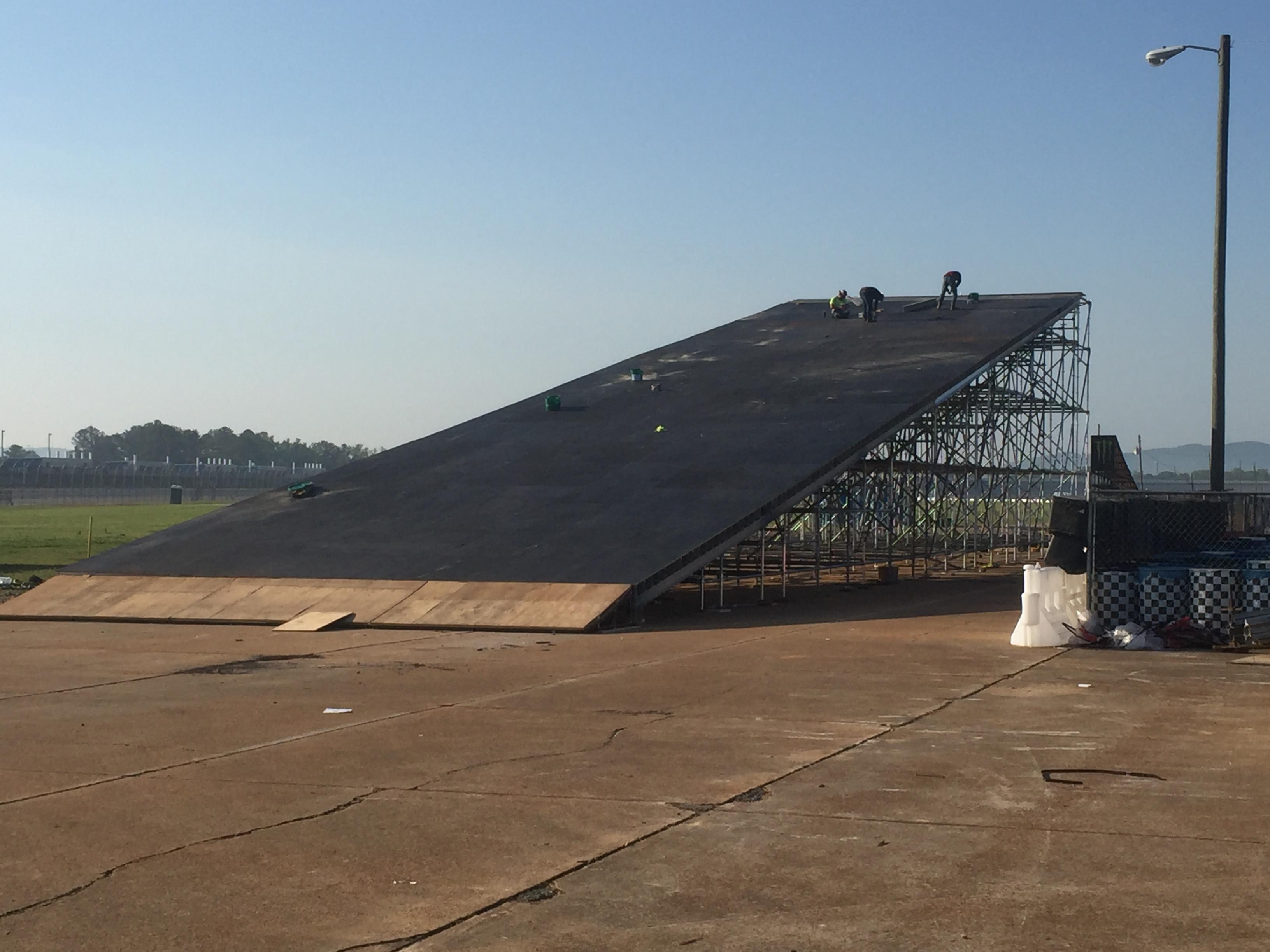 Talledega Superspeedway scaffold motorcycle ramp 2