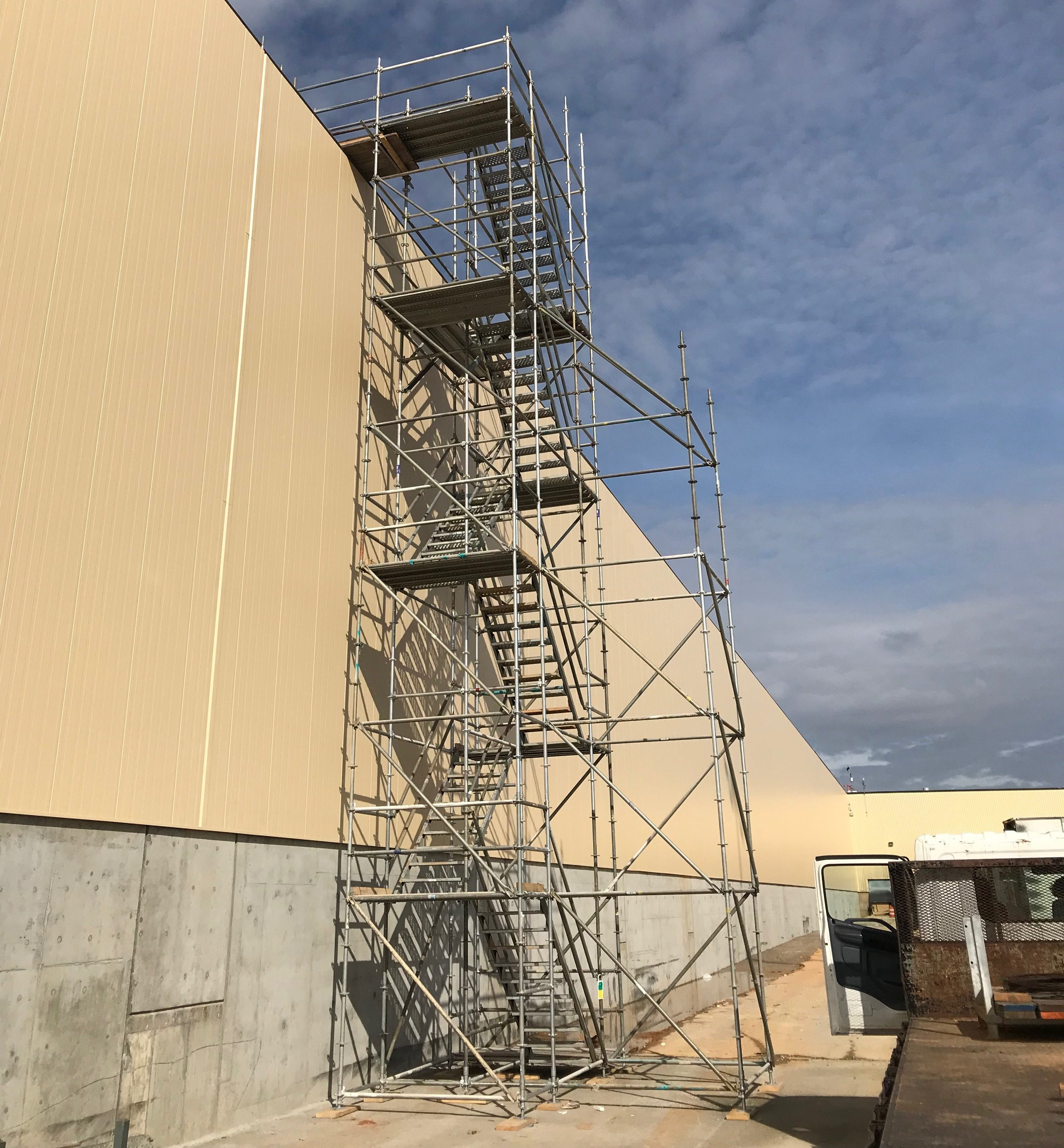 Plant scaffold stair tower 5