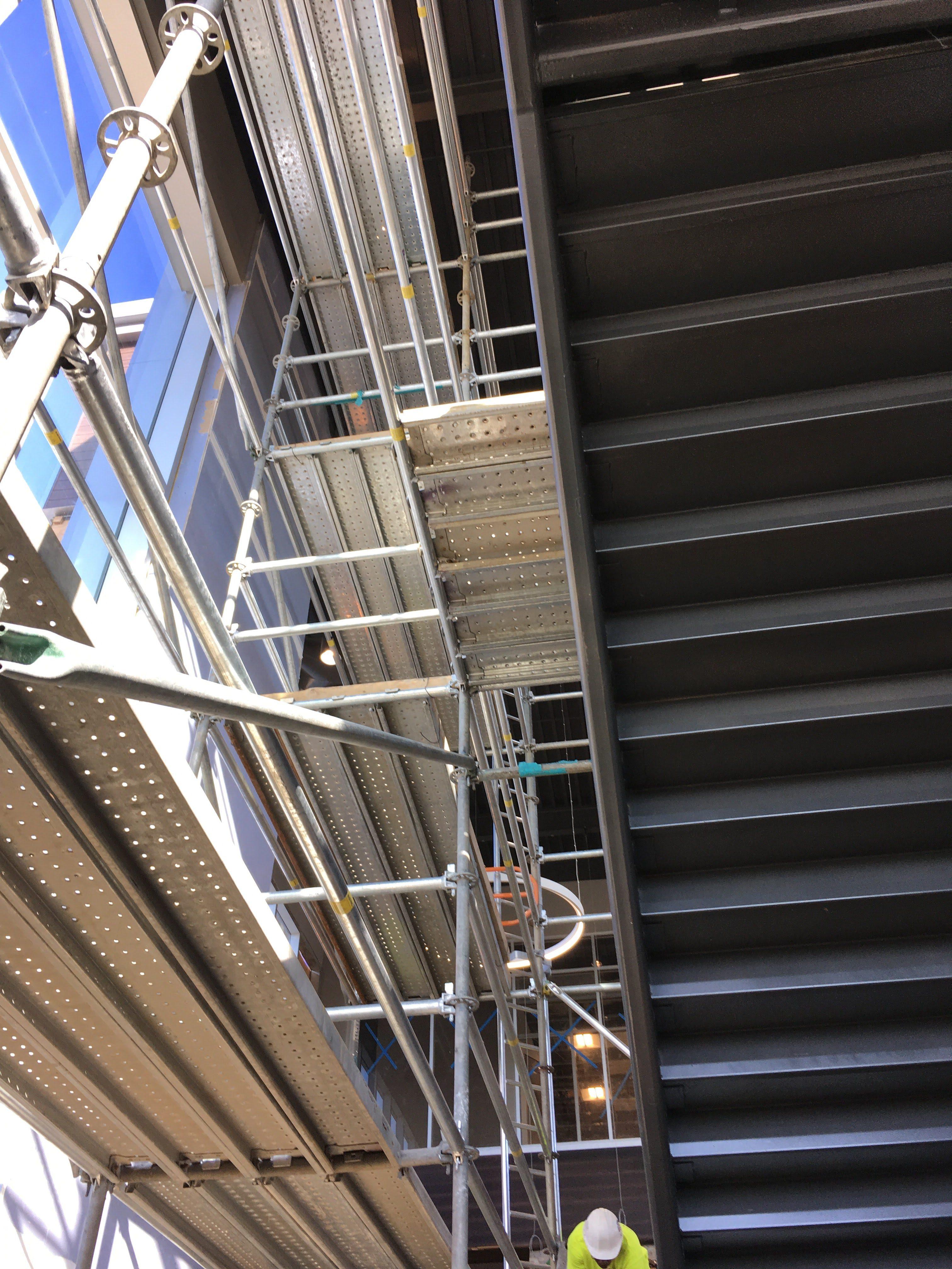 Top Golf Stairwell scaffold 5