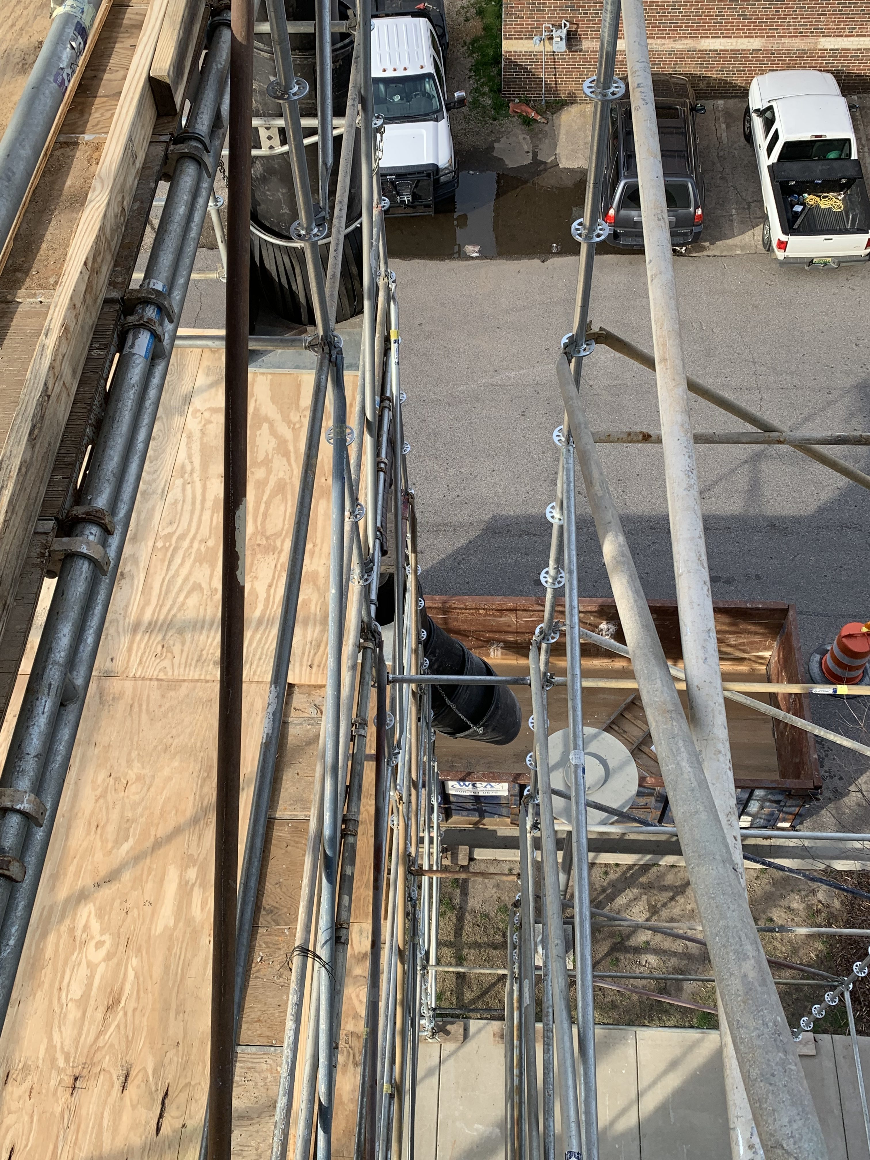 1st Ave S Condo Renovation scaffold 4