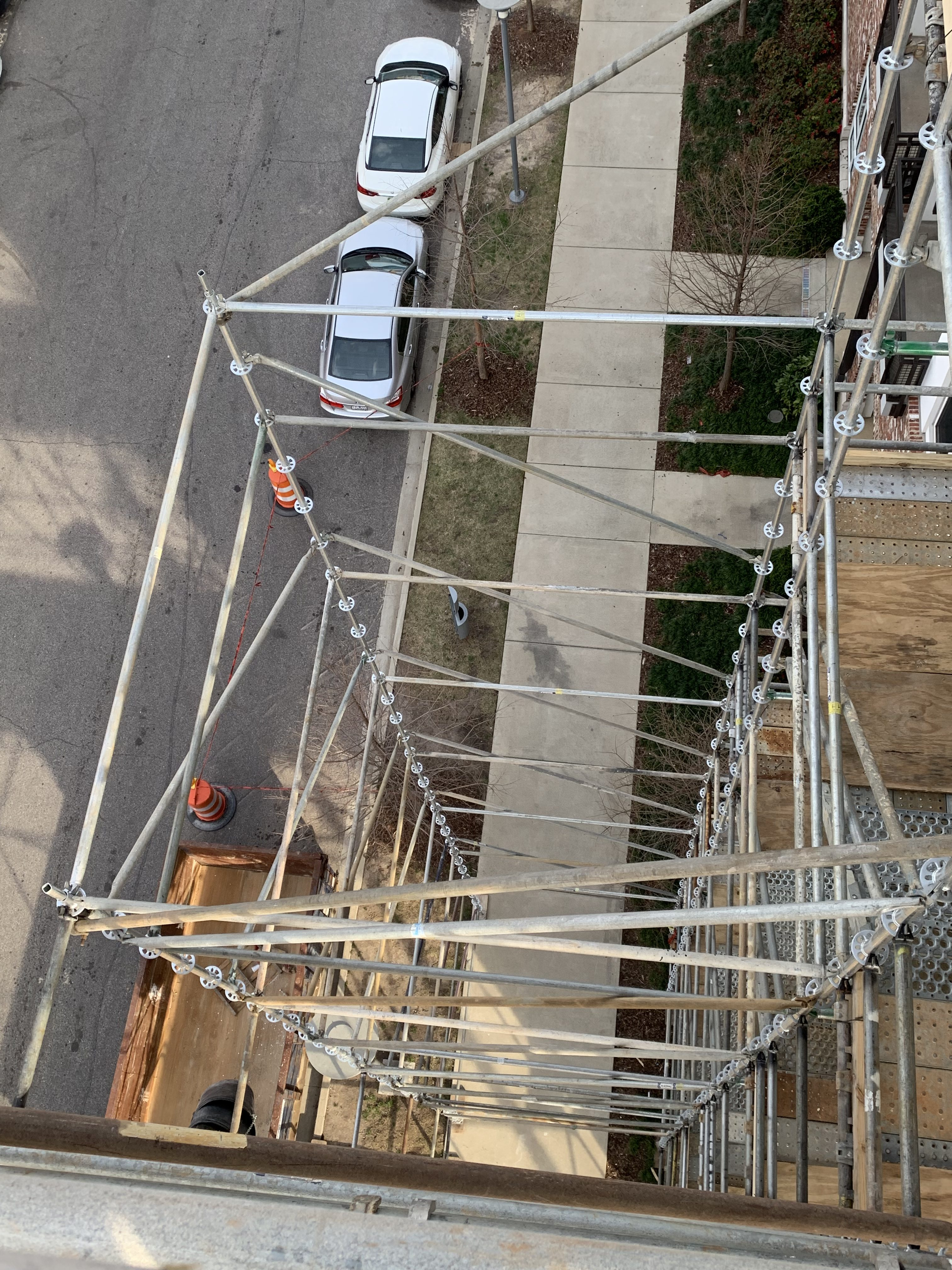 1st Ave S Condo Renovation scaffold 2