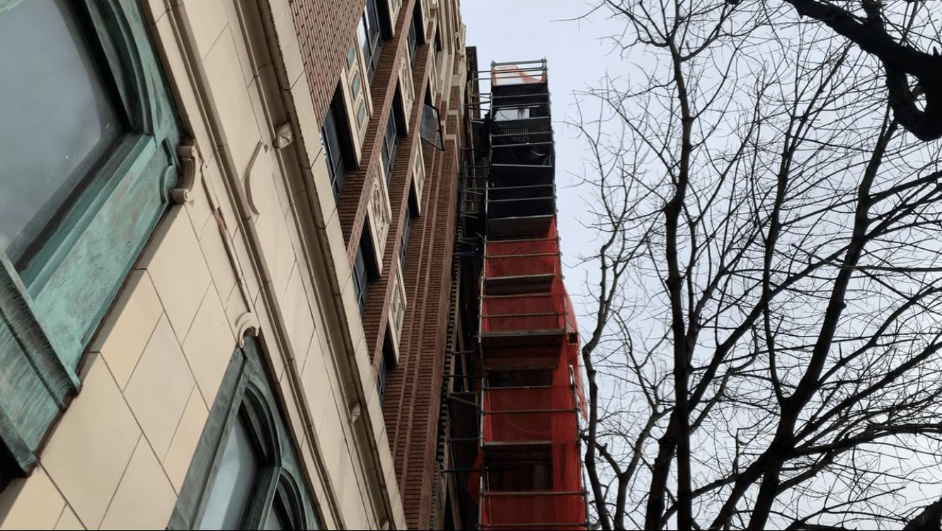 Ferguson Building scaffold 8