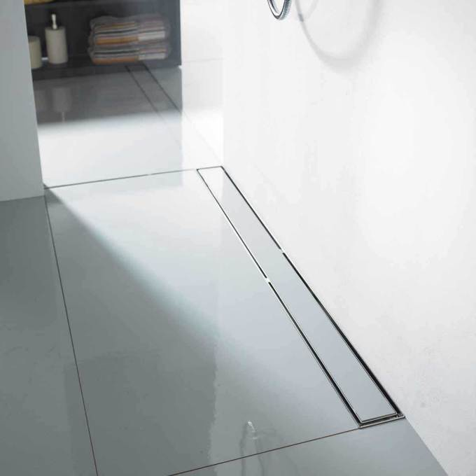Quartz By Aco Flange Edge Stainless Steel Shower Channels Grates