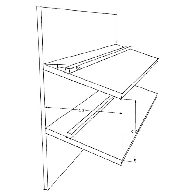slanted shoe rack plans