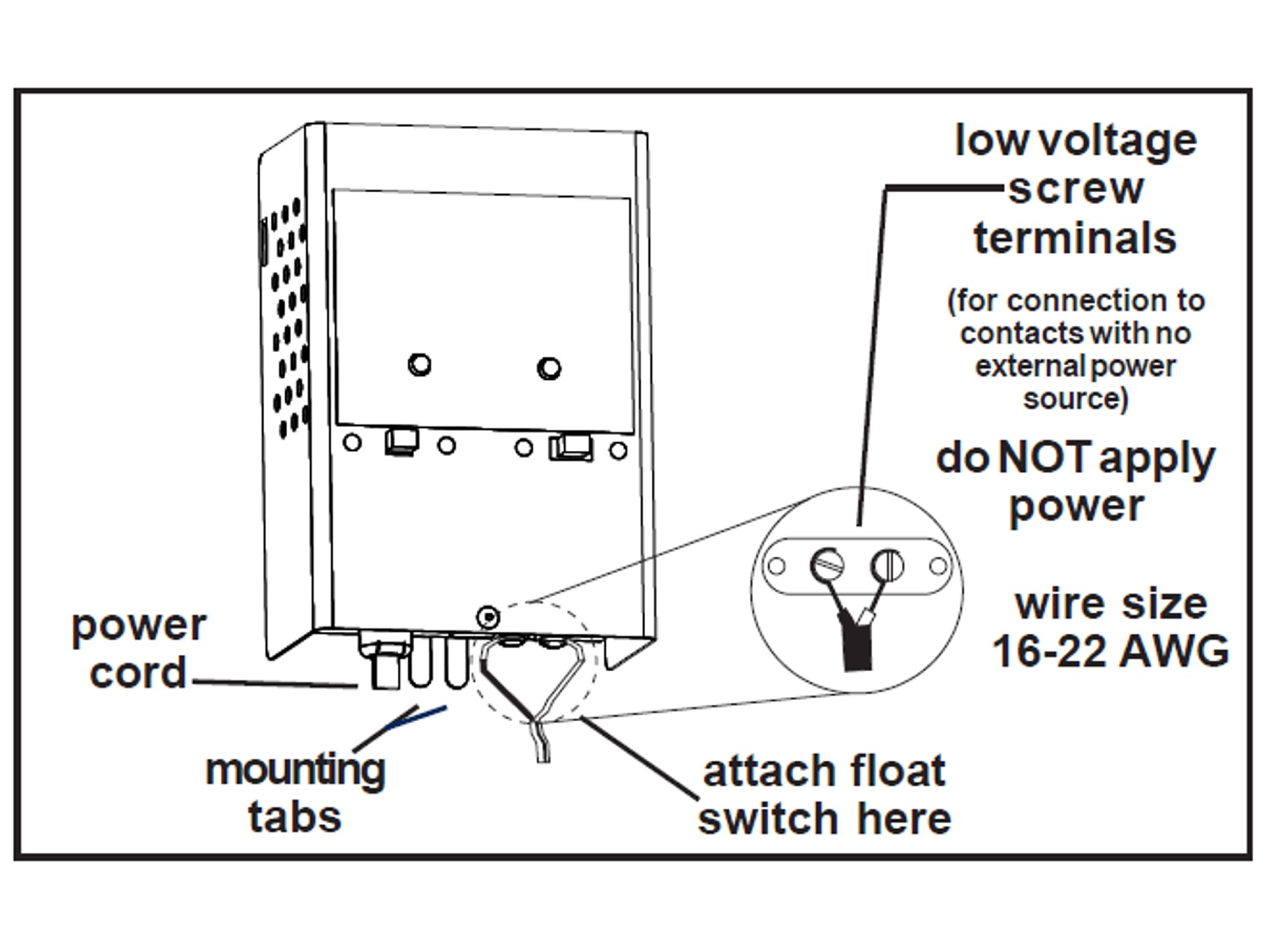Two Float Switch System Schematic