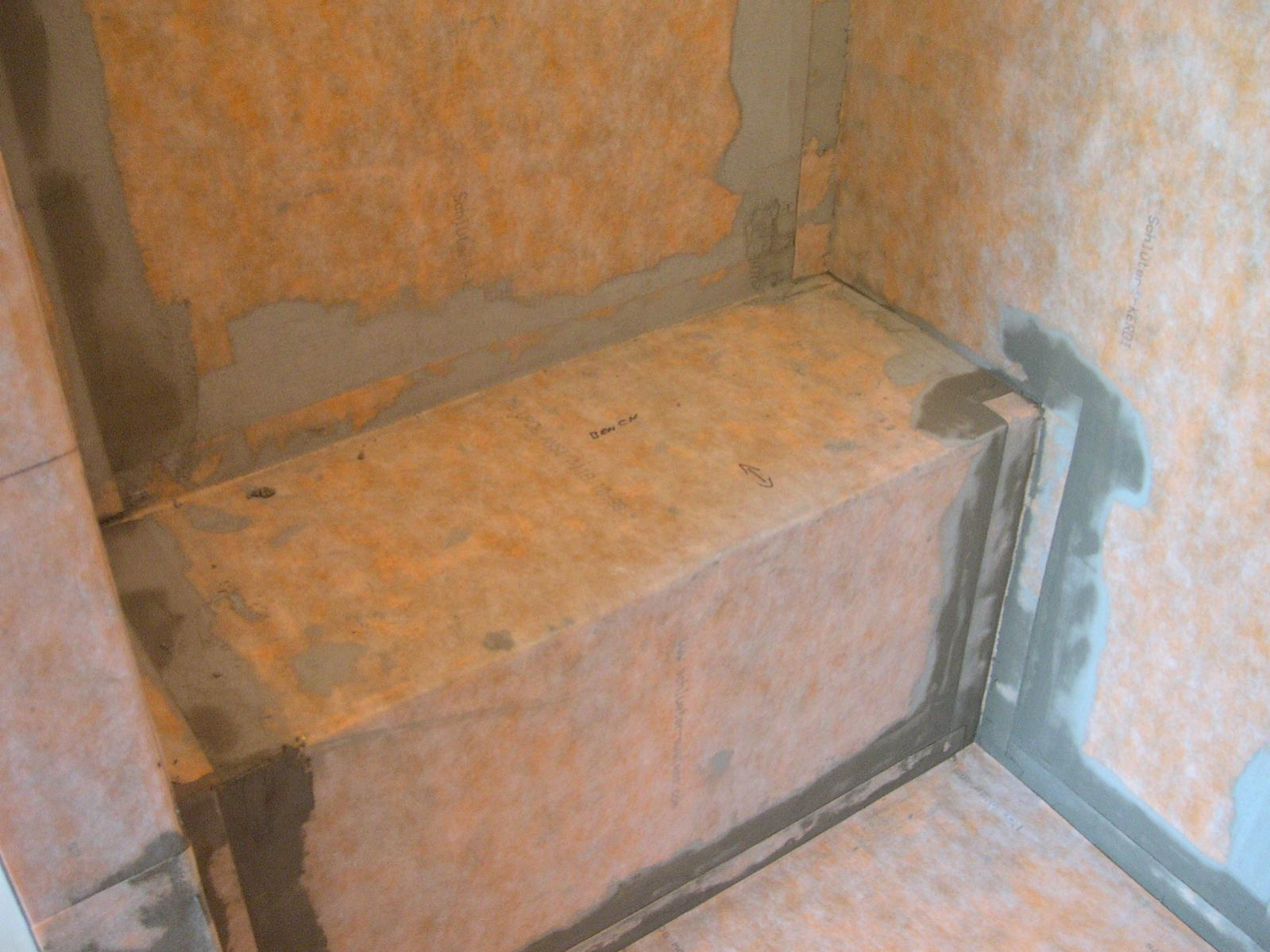 Building A Shower Bench When Using Backer Board On Walls Tiling Contractor Talk