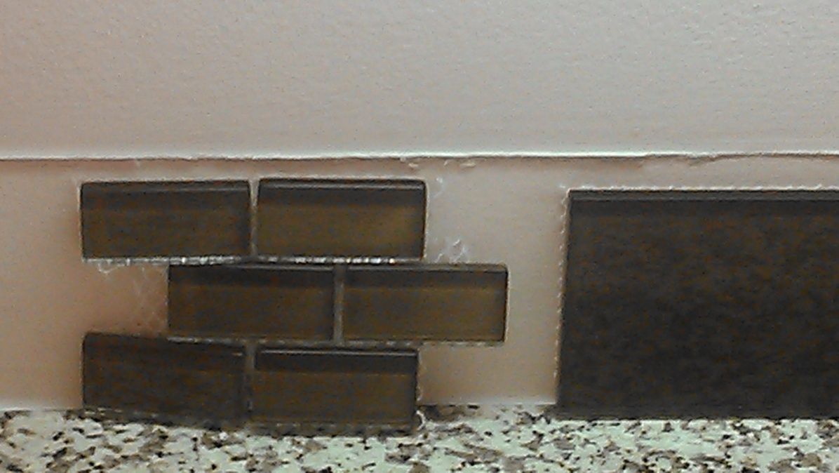 glass tile and thin set color