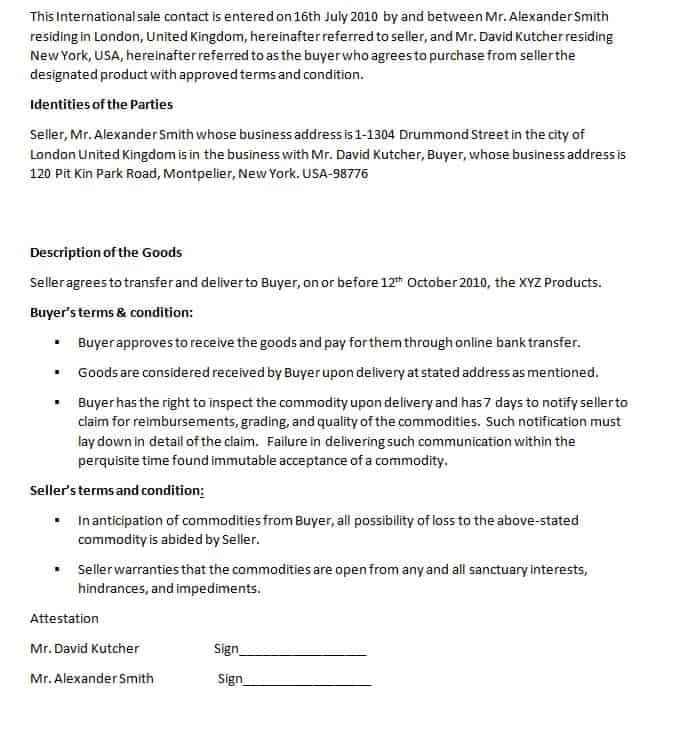 Download International Contract Template Here For Free  Printable Contracts
