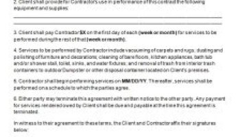 Renovation Contract Contract Agreements Formats Examples