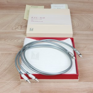 Kondo Audio Note KSL-VzII full silver audio interconnects RCA 1,0 metre NEW 1
