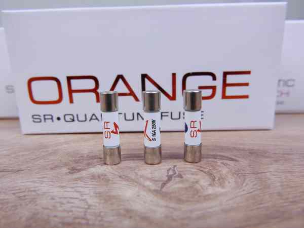 Synergistic Research Orange audio Quantum Fuse 5x20mm Slo-blow 10A 250V (3 available) 1