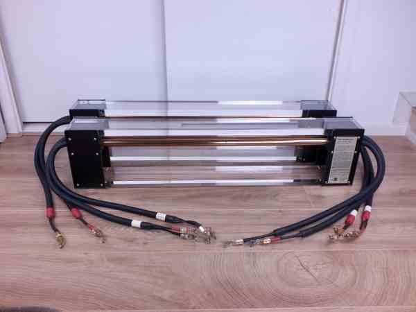 Fadel Art The Goldline highend audio biwired speaker cables 2,0 metre 1