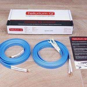 Tellurium Q Ultra Blue II audio speaker cables 3,0 metre 1