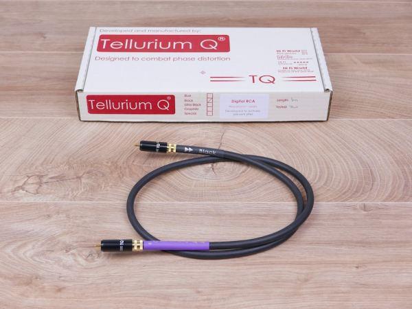 Tellurium Q Black Waveform digital audio interconnect RCA 1,0 metre 1