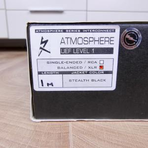 Synergistic Research Atmosphere UEF Level 1 audio interconnects XLR 1,0 metre 5