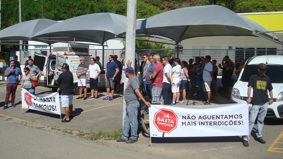 Manifestação contra a Tamoios pede resultados imediatos