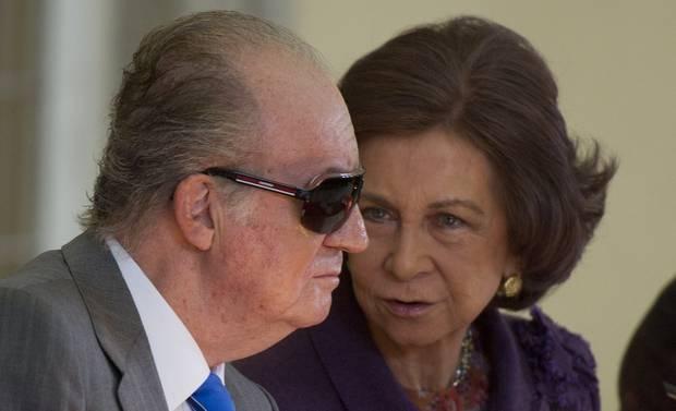 Rey Juan Carlos Borbon y la reina Sofia de Grecia