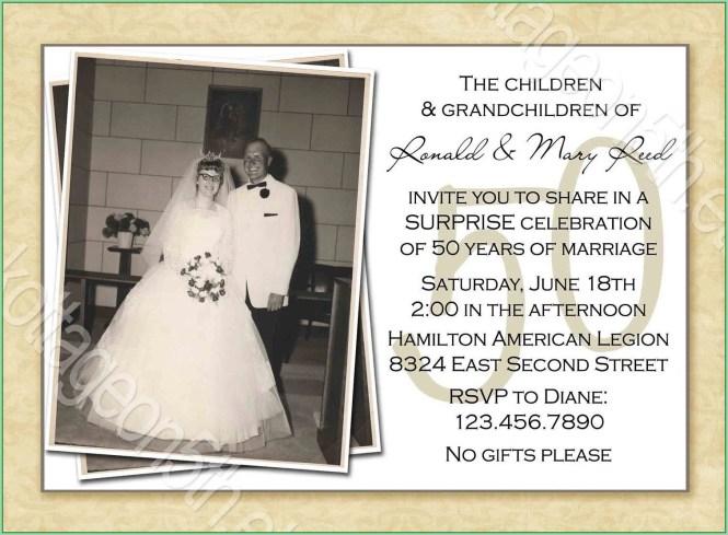 Free Printable 50th Wedding Anniversary