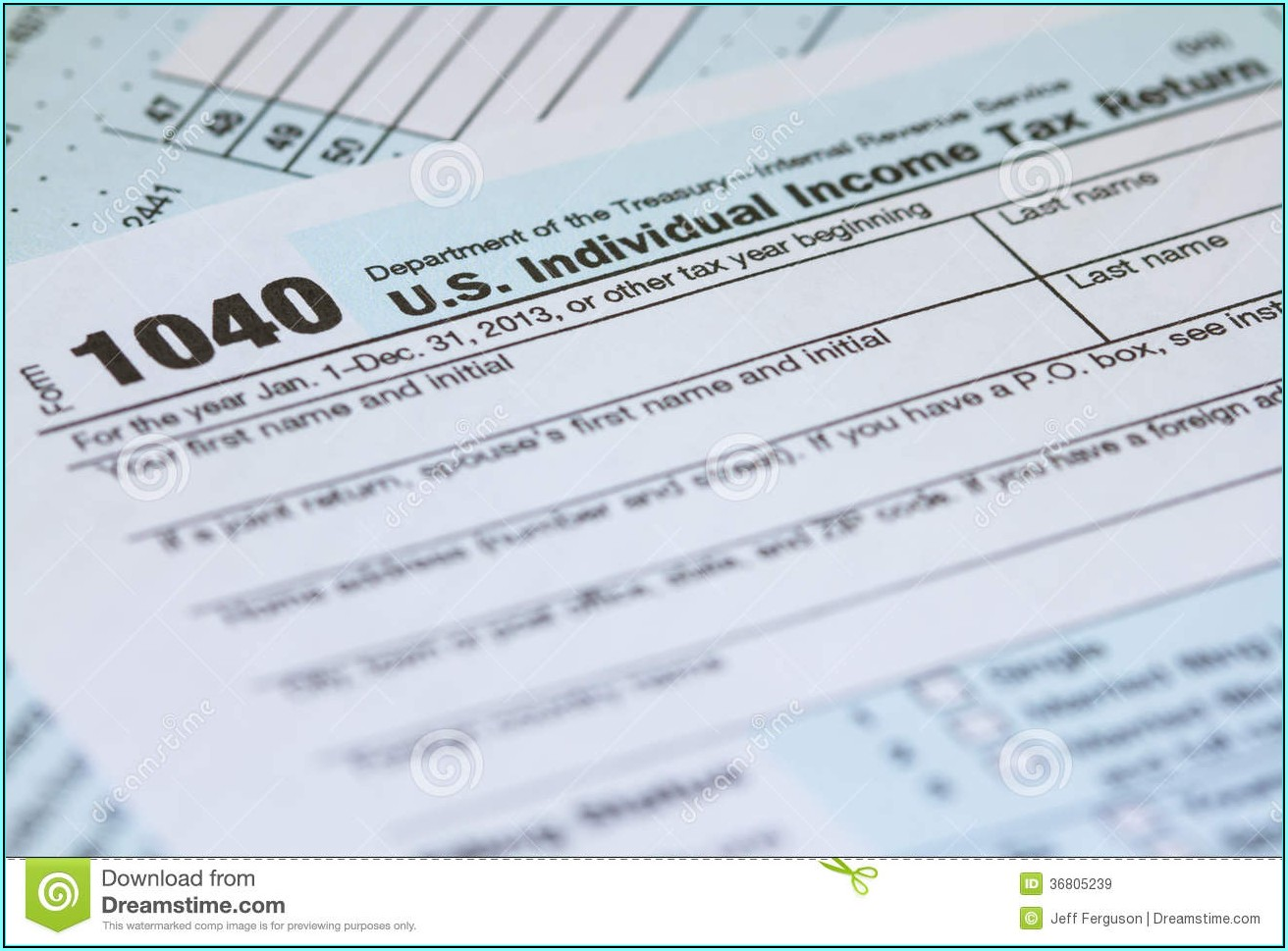 Federal Income Tax Forms A