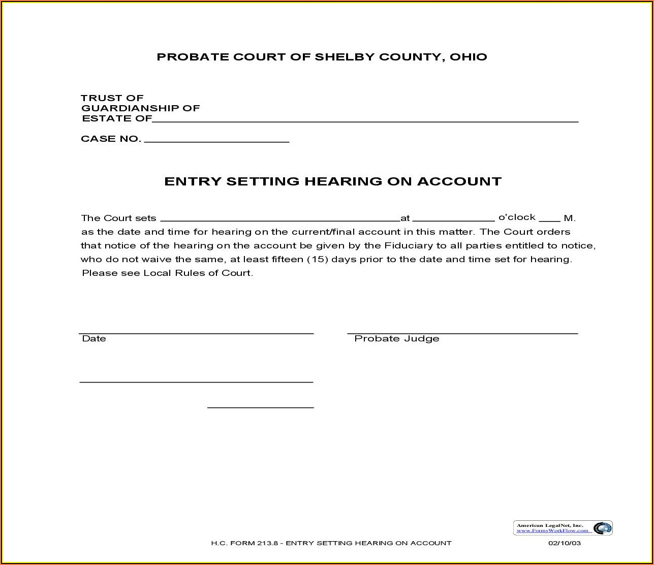 Shelby County Ohio Divorce Forms