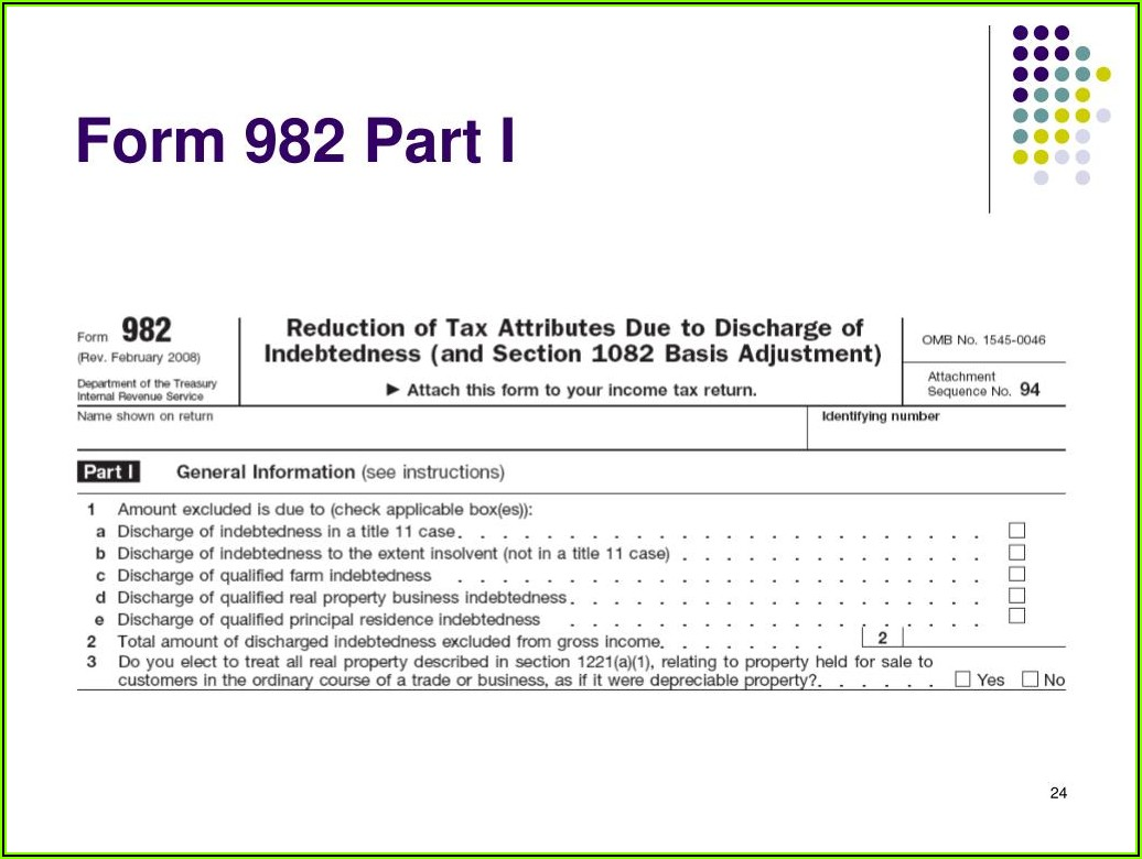Cancellation Of Debt Form C Taxable Income