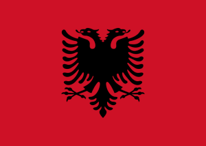 Flagge von Albanien