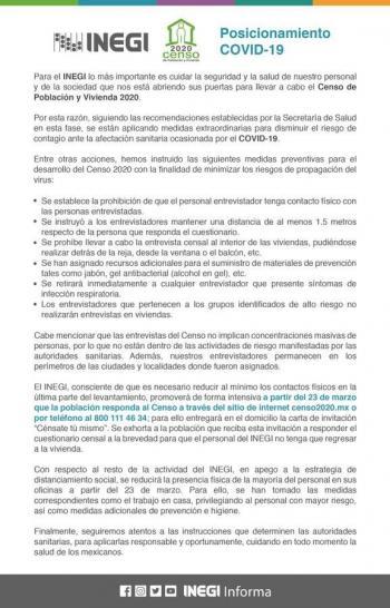 """Inegi concluirá censo con ayuda de internet y la iniciativa """"Cénsate tu mismo"""