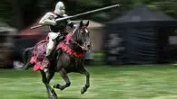 A grand medieval joust in Cornwall