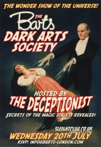 Barts speakeasy's Dark Arts Society evening with The Deceptionist