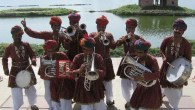Jaipur Kawa Brass Band at Kimbolton Village Hall, Herefordshire