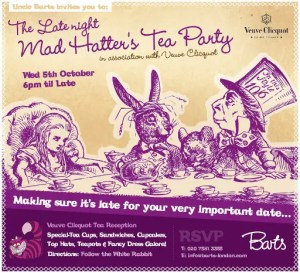 The Late Night Mad Hatter's Tea Party at Barts speakeasy bar, Chelsea
