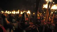 Lerwick lights up for Up Helly Aa