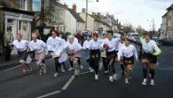 Watch the wacky world famous Olney Pancake Race