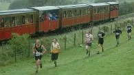 Runners steam ahead to Race the Train in Wales